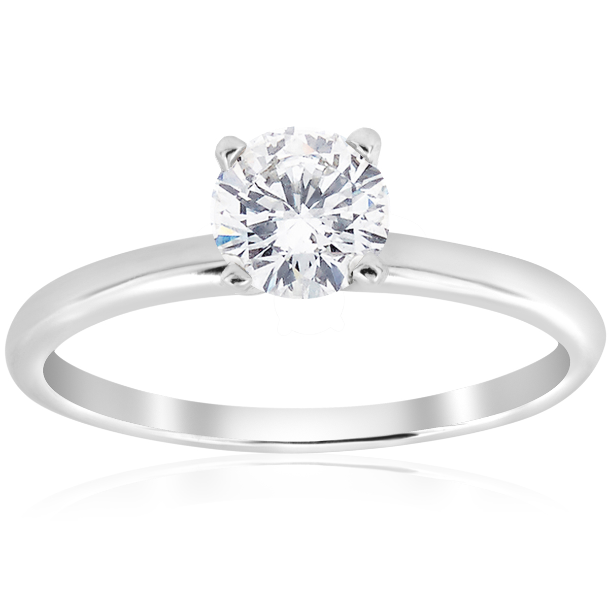 5 8ct Solitaire Round Diamond Engagement Ring 14K White Gold Brilliant Jewelry by Pompeii3