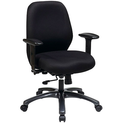 Office Star 24-Hour Office Chair, Black