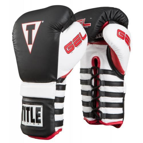 Title Boxing GEL CONQUER LACE TRAINING GLOVES Black/White...
