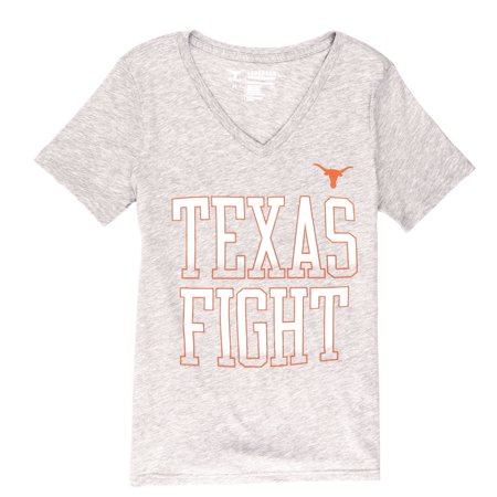 NCAA Texas Longhorns Women's Hazel V Neck Short Sleeve Tee Shirt