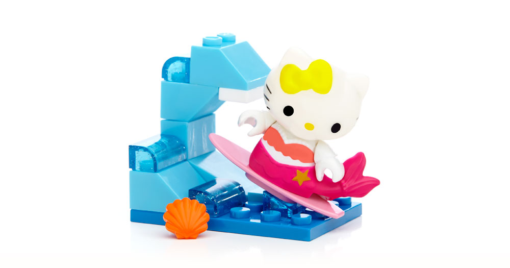Hello Kitty Mega Bloks Surfing Mimmy (15 Pieces) by Mattel