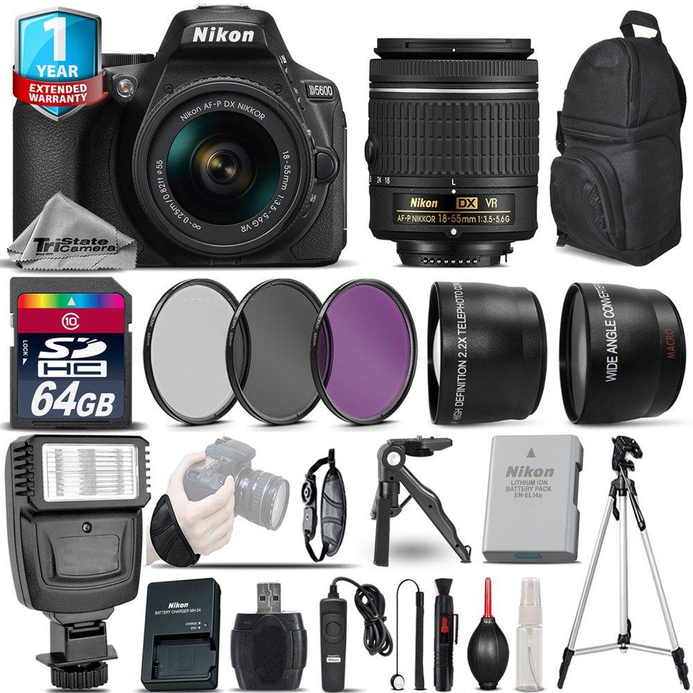 Nikon D5600 DSLR Camera + 18-55mm VR + 1yr Warranty + Filters + 64GB -Saving Kit