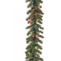 9' Kincaid Spruce Garland with Multicolor Lights