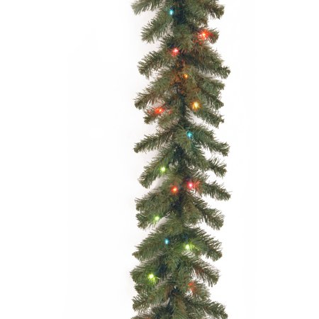 9' Kincaid Spruce Garland with Multicolor Lights ()