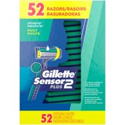 Gillette Sensor2 Plus Disposable Razors 52 ct Box