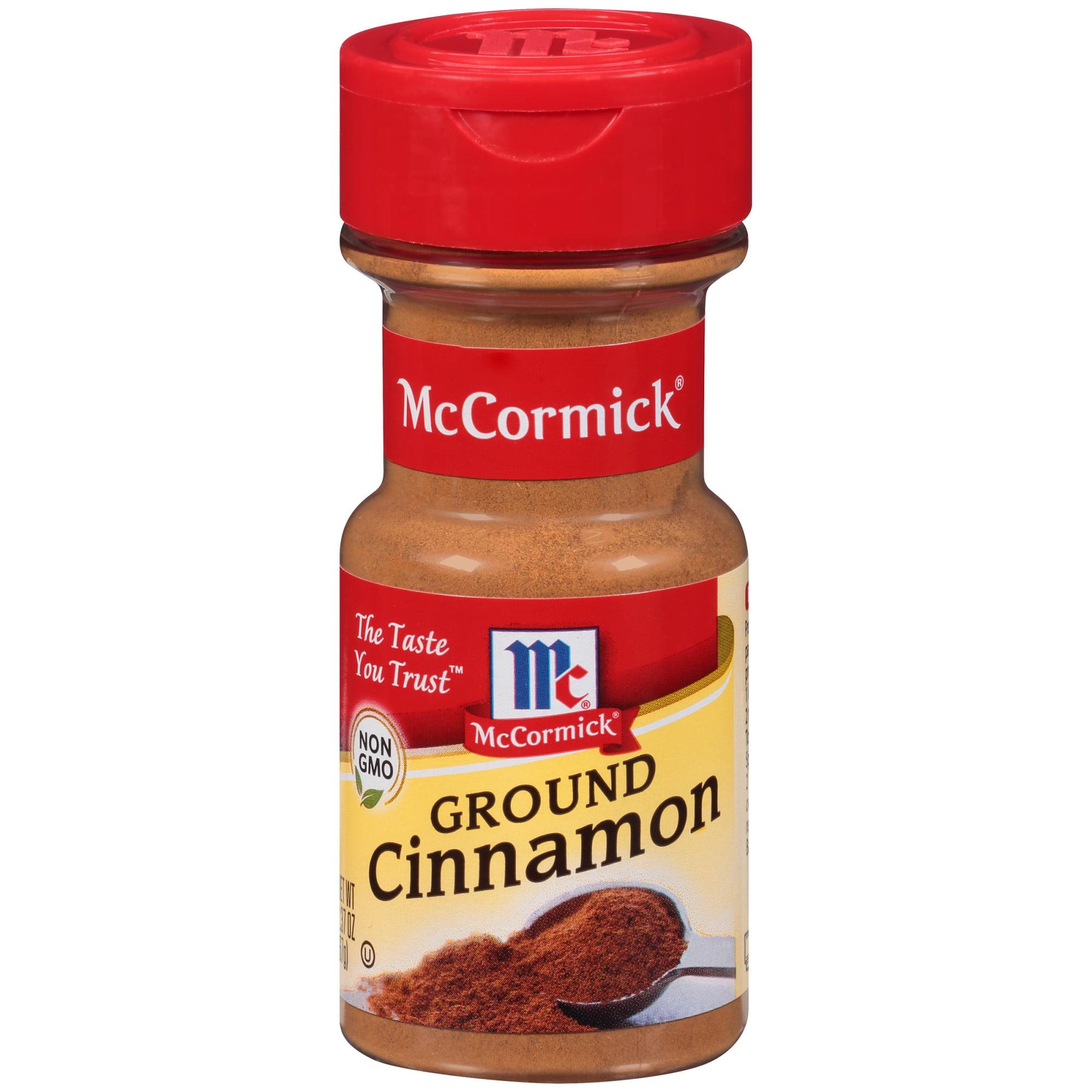(2 Pack) McCormick Ground Cinnamon, 2.37 oz
