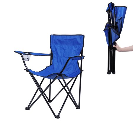KARMAS PRODUCT Folding Camping Chair Portable Ultra-light Outdoor Picnic BBQ Fishing Beach Chair with Cup Holder and Carry Bag