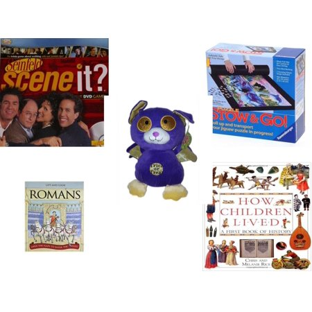 Children's Gift Bundle [5 Piece] -  Seinfeld Scene It  With DVD TV Trivia Questions - Stow and Go Storage System  - Sugarloaf s Trick or Treat Bat  11