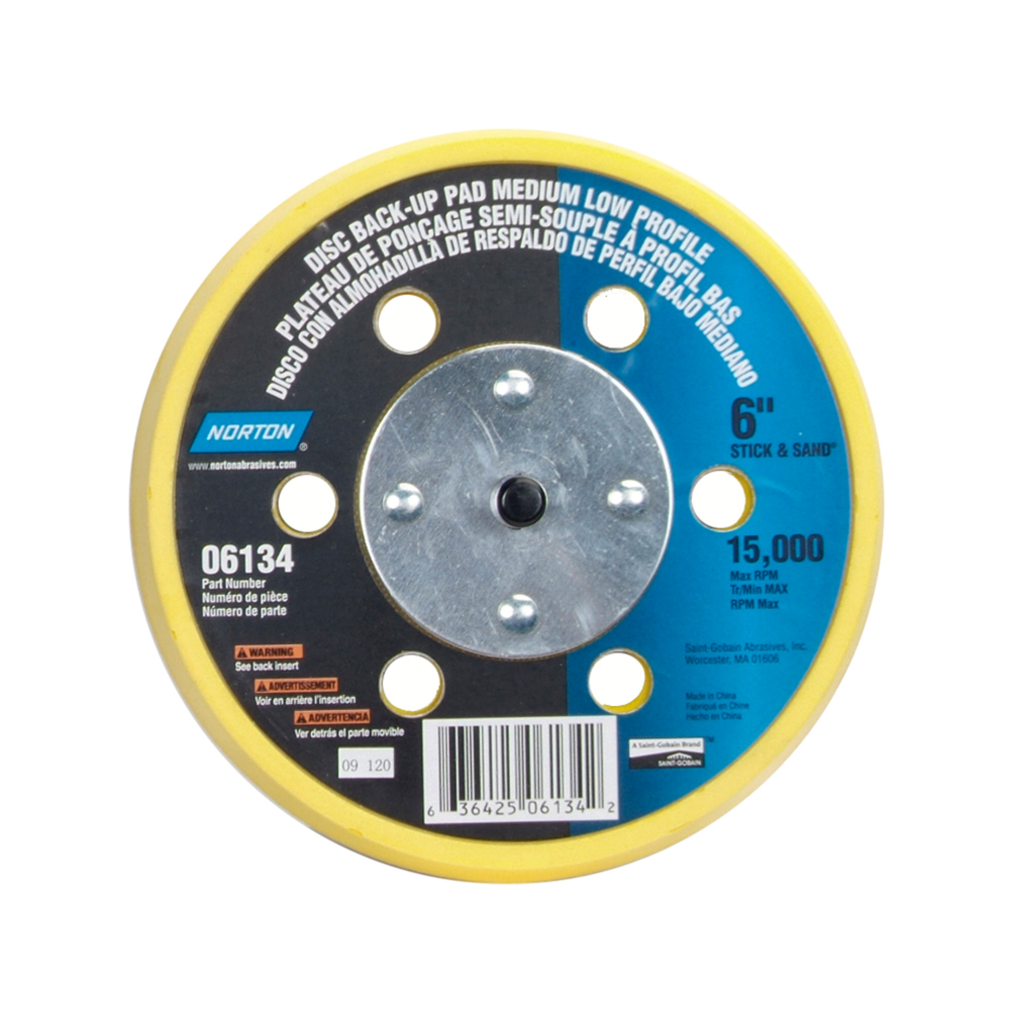 Norton 636425-00407 White 36 x 750 Polycoated Masking Paper