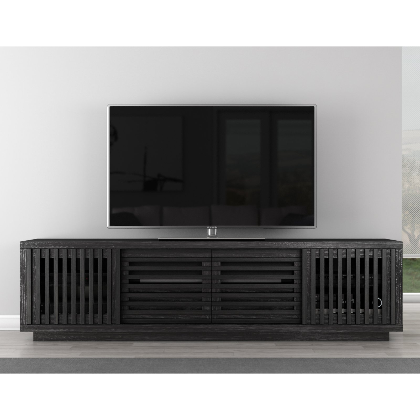 Furnitech Signature Home Collection 81.5 in. TV Stand - Ebony