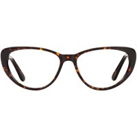 Christian Siriano CV Rose Tortoiseshell Eyeglass Frames with Case