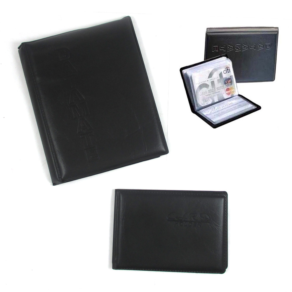 2 Pc 136 Business Card Holder pact Pocket ID Credit