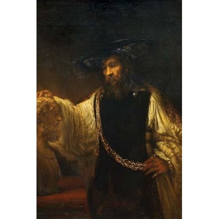 Aristotle With a Bust of Homer Poster Print by Rembrandt Van Rijn (24 x