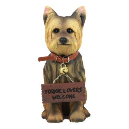 Ebros Yorkie Dog Garden Statue 12.5