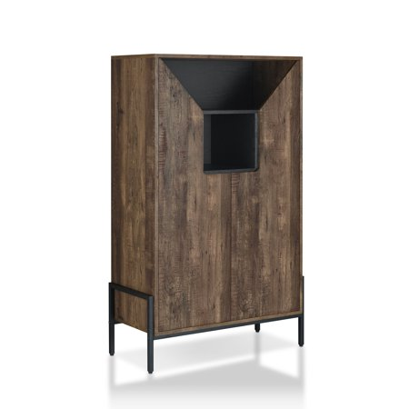 Furniture of America Kadia Rustic Shoe Cabinet Shoe Cabinet Furniture