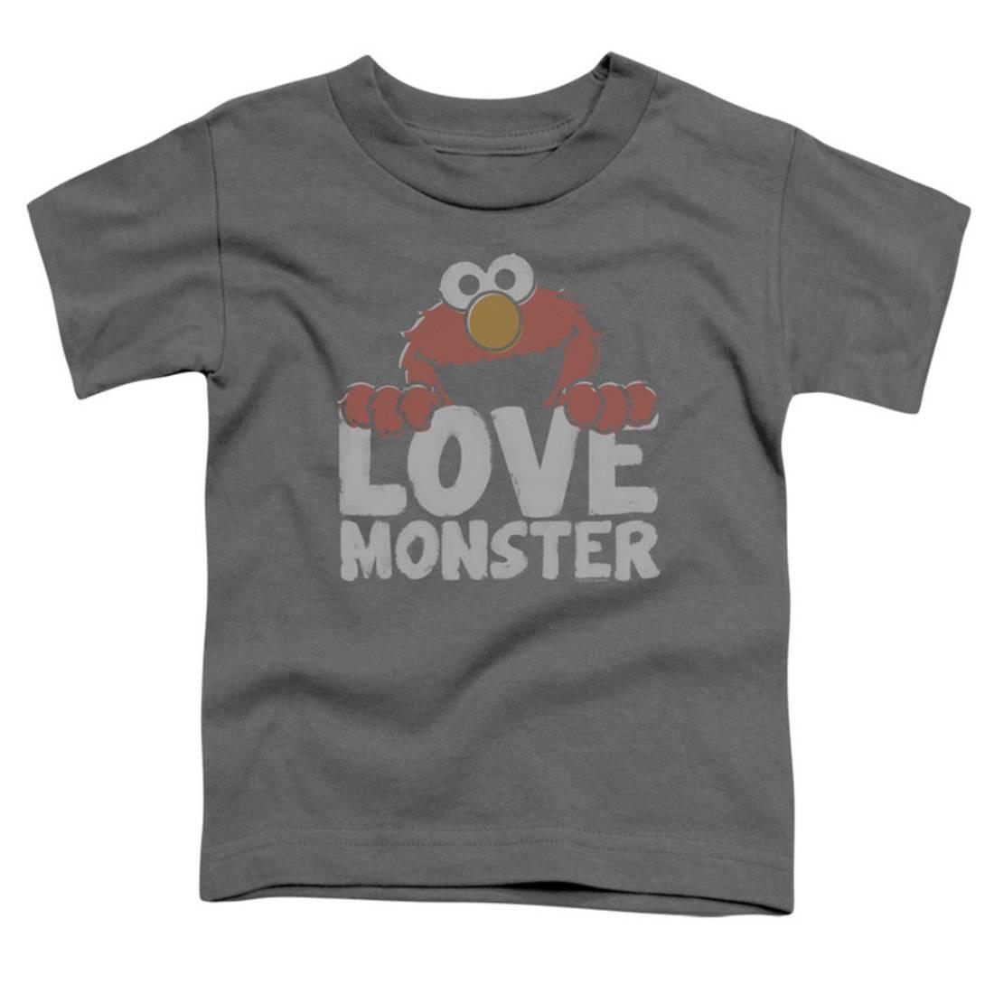 Toddler: Sesame Street- Elmo Love Monster Apparel Baby T-Shirt - Grey