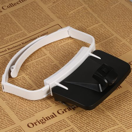 TH9203 Headband Magnifier Glasses LED Magnifying Head Mount Magnifier Interchangeable Loupe 5 Replaceable Lenses 1.0X/1.5X/2.0X/2.5X/3.5X - image 1 de 7