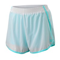 Wilson Women's Competition Woven 3.5 Tennis Short, White/Island Paradise