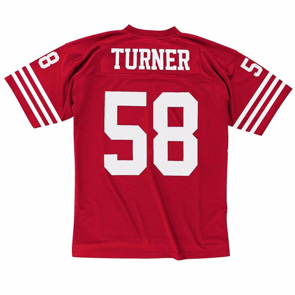 Keena Turner San Francisco 49ers NFL Mitchell & Ness Men's Red Official Throwback Retro Jersey