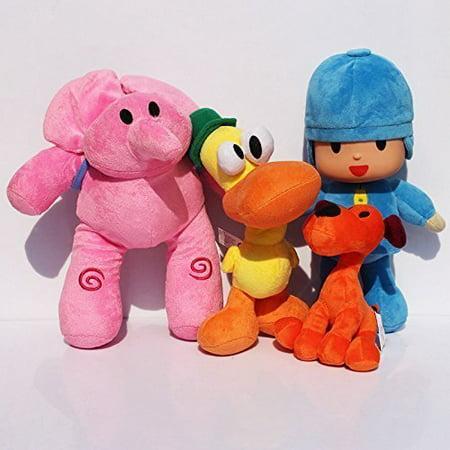 "WAREHOUSEDEALS Inspired by Pocoyo Plush Toys Doll Stuffed Soft- Pocoyo Loula Elly Pato Set 4pcs 12"" - image 1 de 1"