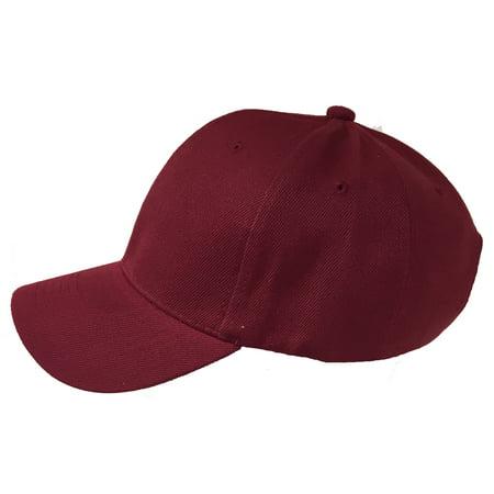 Unisex 6 Panel Plain Baseball Cap - With Velcro Closure on Back of Hat -  Deep Fit (Colors Available) - Walmart.com 3f18b9444d0