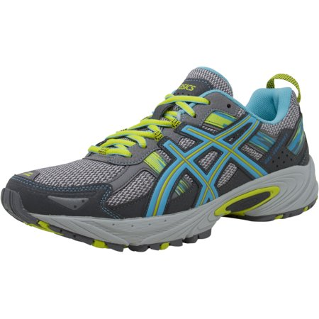 Asics Women's Gel Venture 5 Silver Grey Turquoise Lime Punch Ankle High Running 9.5W