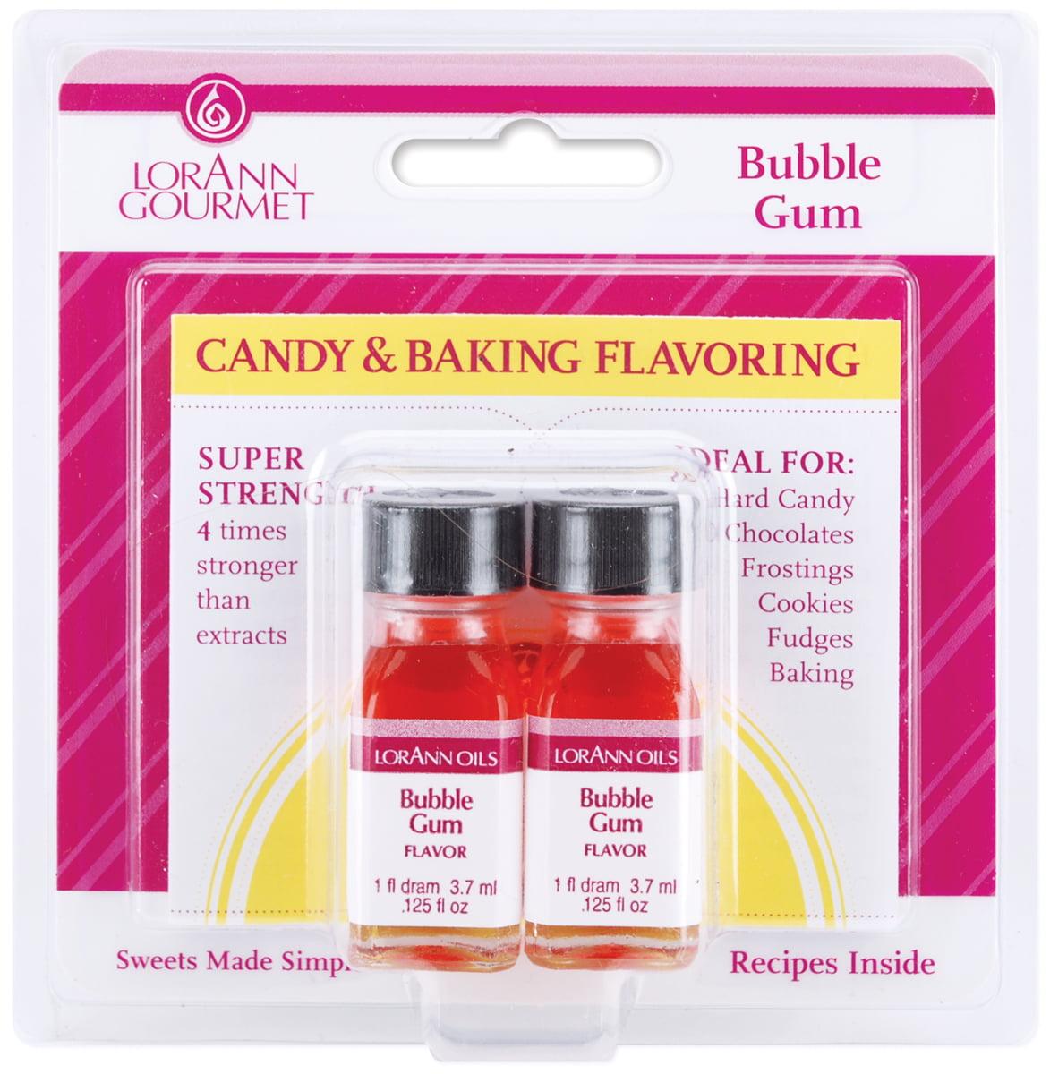 Candy & Baking Flavoring .125 Ounce Bottle 2/Pkg-Bubble Gum