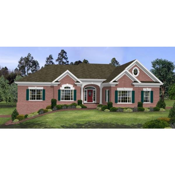 TheHouseDesigners-6253 Ranch House Plan with Basement Foundation (5 Printed Sets)