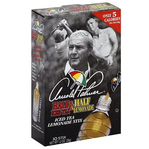 AriZona Arnold Palmer Half Iced Tea & Half Lemonade Iced Tea Lemonade Stix, 10 count, (Pack of 12)