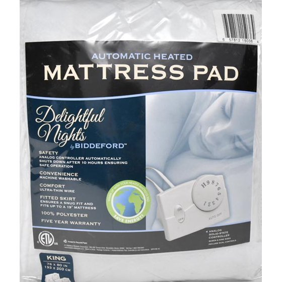 Biddeford Heated Mattress Pad 1 Each Walmart Com