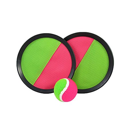Toy CubbyVelcro ball Paddle Catch and Toss Game Set- 7†Handheld Stick Disc - 1 Set](Paddle Game)