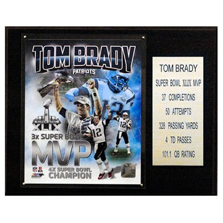C And I Collectables Nfl 15W X 12H In  Tom Brady New England Patriots Super Bowl Xlix Mvp Plaque