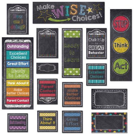 BEHAVIOR CLIP CHART MINI-BULLETIN BOARD (CHALK) - Bullitin Board