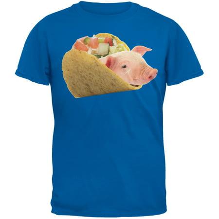 Taco Pig Blue Youth T-Shirt - Pkg Blue