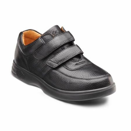 Velcro Sneaker - Dr. Comfort Collette Women's Athletic Shoe: 8 Wide (C-D) Black Velcro