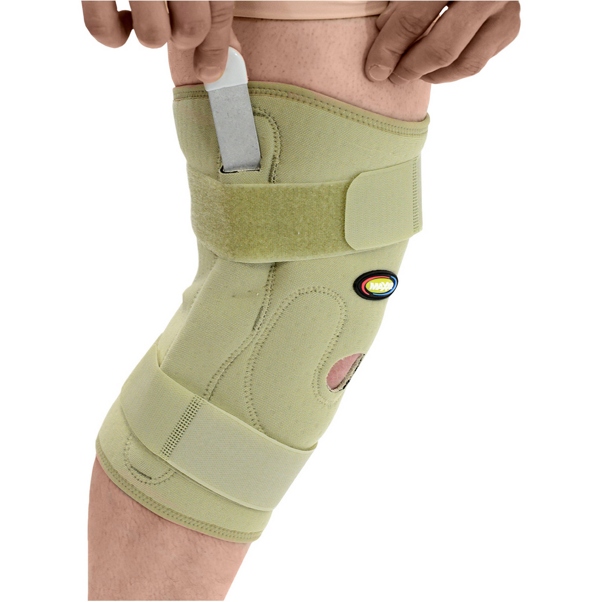 MAXAR Airprene Breathable Neoprene Pull-On Knee Brace with Double-Pivot Hinge