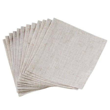 Saro Lifestyle 731NH.N6S 6 in. Square Poly Blend Toscana Table Napkins with No Hemstitch Border - Natural, Set of 12 - image 1 de 1