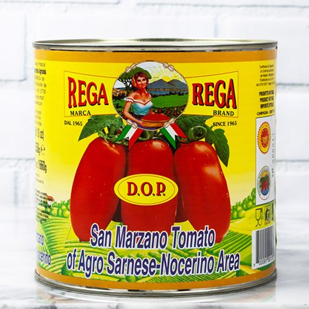 Whole San Marzano Tomatoes DOP In Puree by Rega - 5 LB 10 OZ (90 ounce) ()