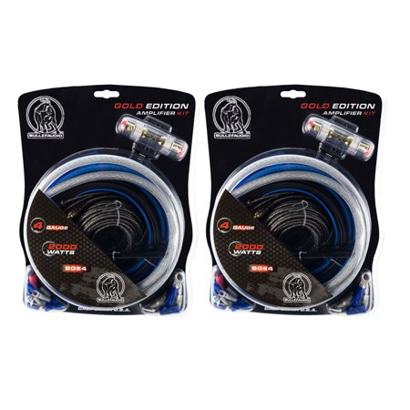 Bullz Audio 4 Gauge Car Audio Amplifier Installation Power Wiring Kit on