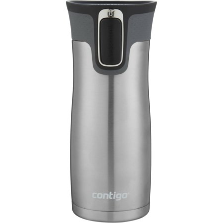 Contigo AUTOSEAL West Loop Vacuum-Insulated Stainless Steel Travel Mug with Easy-Clean Lid, 16 oz., Stainless Steel