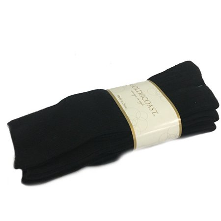 Gold Coast Men's Diabetics Seamless Dress Socks in Black - 3