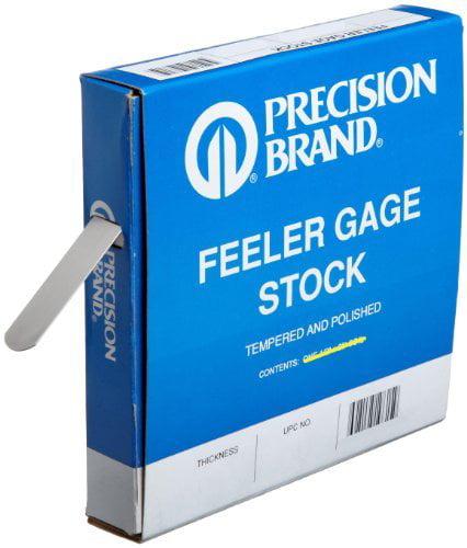 Precision Brand Coil Steel Feeler Gauges - 19h15 .015''x1/2''feeler gaug