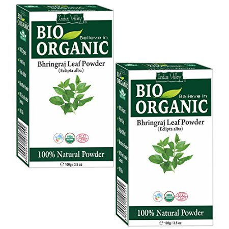 Valley Girl Hair (Indus Valley Organic Bhringraj Powder for hair growth and conditioning (100gm,)