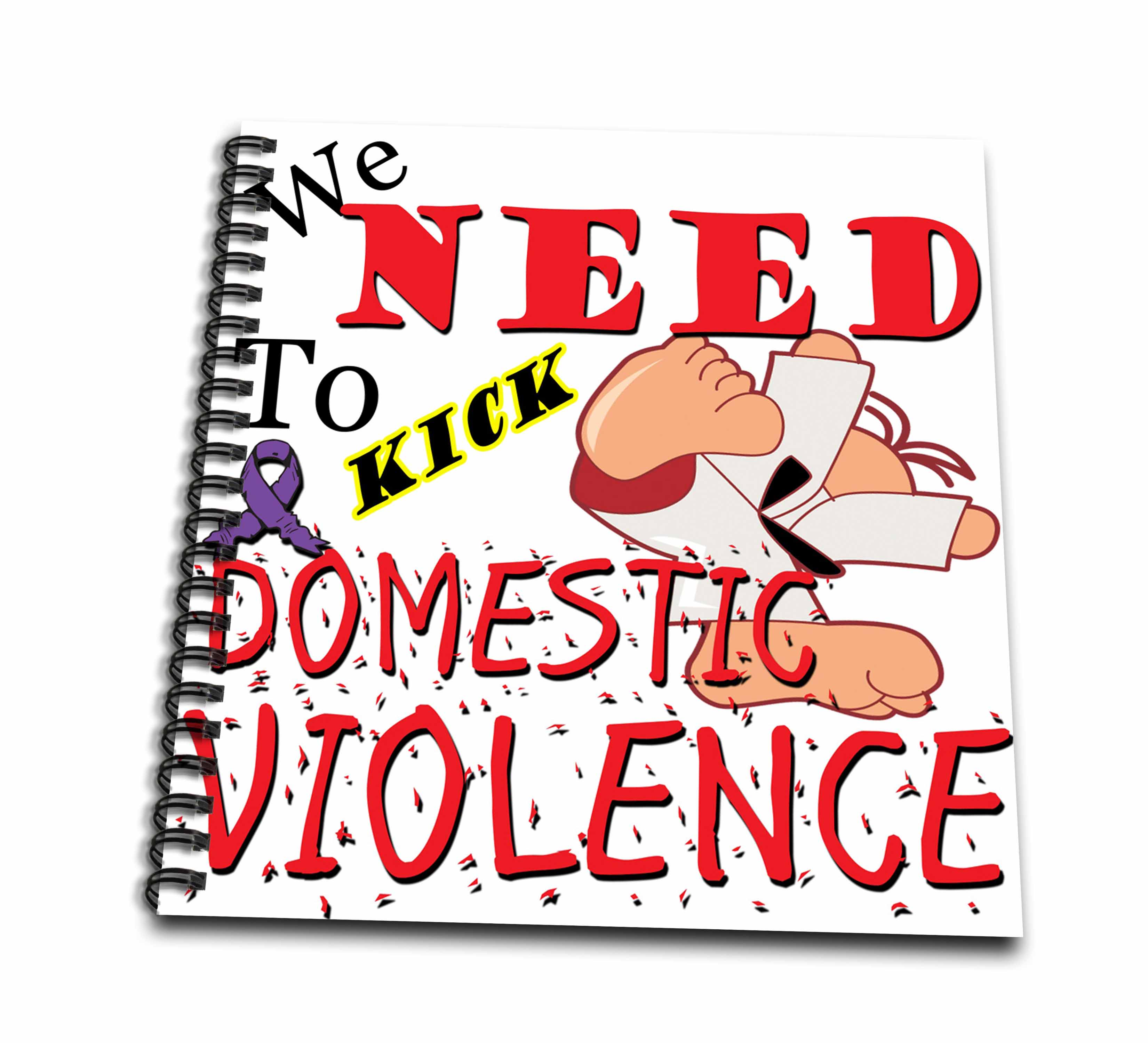 3dRose Kick Domestic Violence - Drawing Book, 8 by 8-inch
