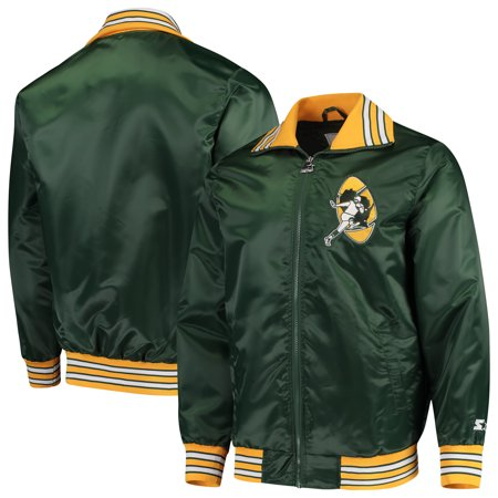 competitive price dc046 1af15 Green Bay Packers Starter Captain Satin Varsity Jacket - Green
