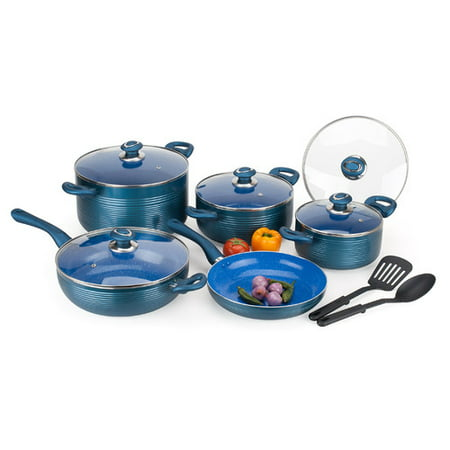 Alpine cuisine 12 piece non stick cookware set for Alpine cuisine ceramic cookware