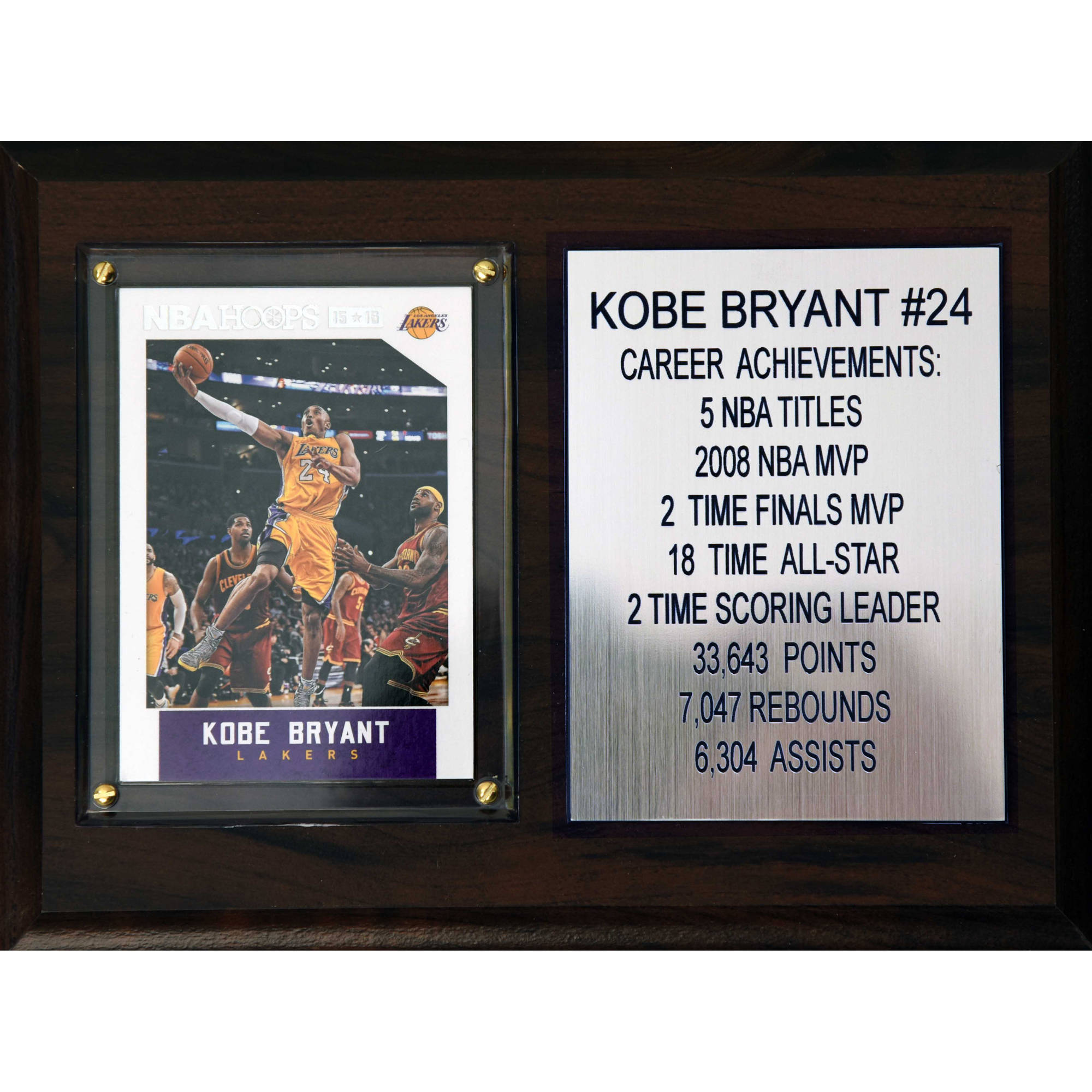 C&I Collectables NBA 6x8 Kobe Bryant Los Angeles Lakers Career Stat Plaque