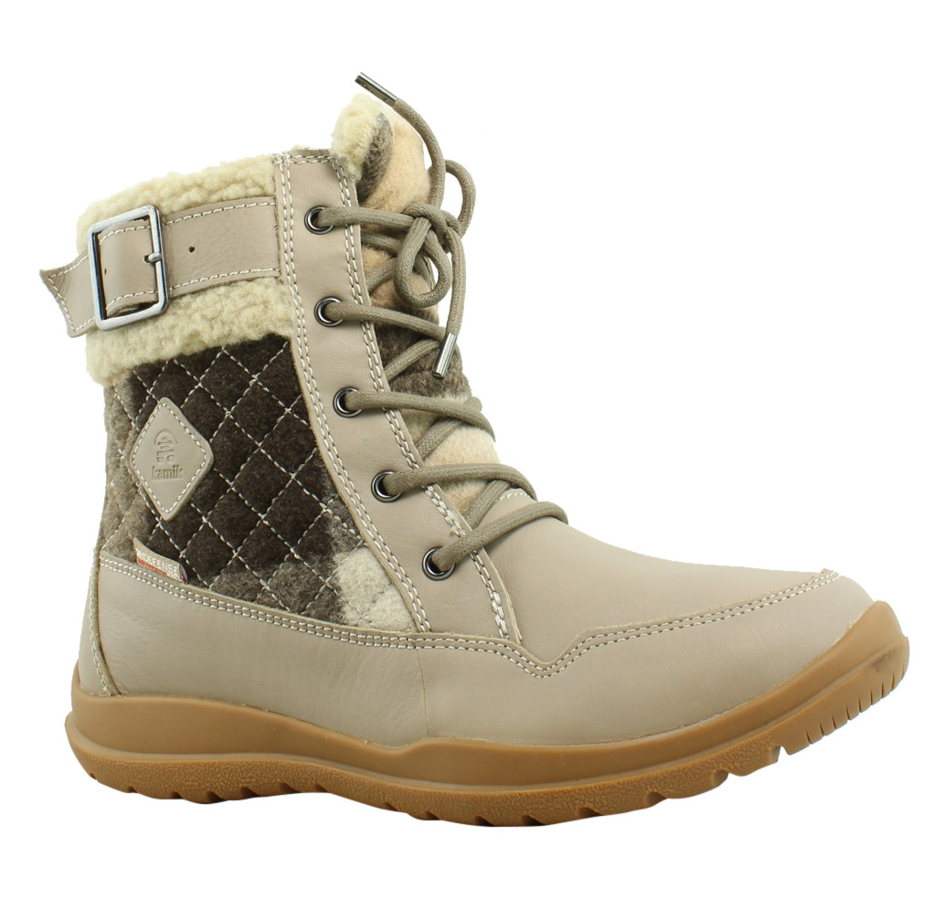 New Kamik Womens Barton Taupe Snow Boots Size 6