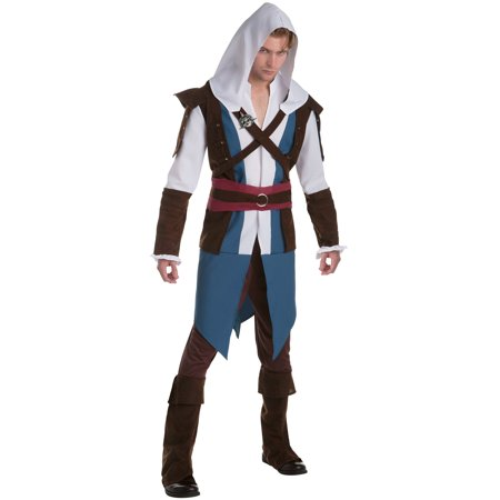 Adult Assassin's Creed Edward Classic Costume (Edward Elric Halloween)