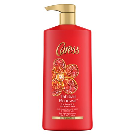 Caress Collection - Caress Exfoliating Body Wash with Pump Tahitian Renewal 25.4 oz